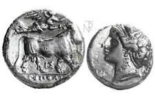 Greek (450 Bc-100 Ad) Coins & Paper Money Monete Antiche Neapolis Campania Ae 250-225