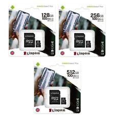 Kingston 128GB 256GB 512GB Class10 microSD SD SDXC Flash Memory Card U3 100MBs