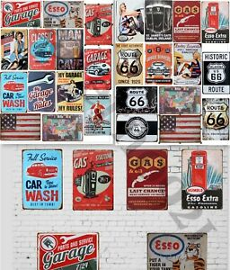 26 VINTAGE GARAGE RETRO SIGNS DECALS FOR GAS STATION DECOR 1:18 Scale Diorama !