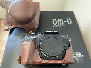 Olympus OM-D E-M10 Mark II Black Body BOXED Excellent condition with Extras