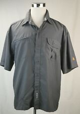 Airwalk Mens Shirt XL Dark Gray Short Sleeve Shirt Polo Shirt