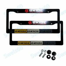 ABS License Plate Frame with Caps for NISSAN 350Z 370Z G35 INFINITI JDM BRIDE X2