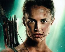 Alicia VIKANDER SIGNED Autograph 10x8 Photo 1 AFTAL COA Lara CROFT Tomb Raider