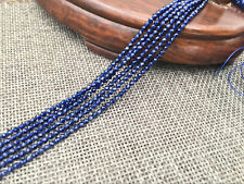 """Blue 2mm Faceted Sapphire Gemstone Roundel Loose Beads 15"""" Strand AA"""