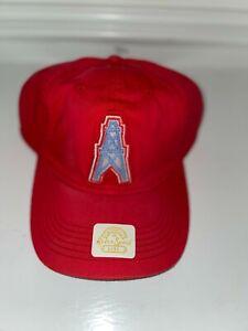 NWT Houston Oilers NFL Cap Hat Reebok Retro Sport L/XL Vintage Look RED