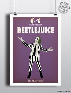 BEETLEJUICE - Minimalist Movie Poster by Posteritty Minimal Print Art Betelgeuse