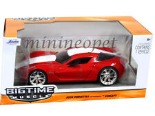 JADA BIGTIME 96730 2009 CHEVY CORVETTE STINGRAY CONCEPT 1/24 RED w WHITE STRIPE