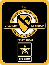 ARMY 1st Cavalry First Team Military USA United States Strong Metal Sign 9x12