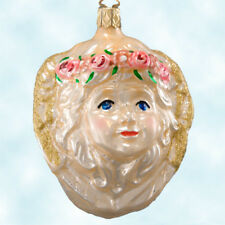 Old World Inge Glas Cupid Angel Ornament 1990s Vintage Valentines Day Gift Mint