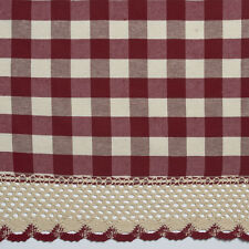 Buffalo Check Gingham Custom Window Curtain Treatments - Assorted Colors & Sizes