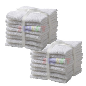 12 Pack Home Collection 100% Cotton Washcloth 11x11 Inches Hotel Cleaning Hands