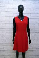 Vestito Donna Penny Black Taglia 42 Abito Tubino Stretto Dress Women Lana Rosso
