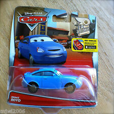 Disney PIXAR Cars BRAKE BOYD diecast LA SPEEDWAY theme 6/11 blue car tie-breaker