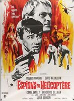 MAN FROM UNCLE HELICOPTER SPIES French Grande movie poster 47x63 VAUGHN McCALLUM