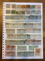 French Fiscal Revenue Stamps Used 120+ France Stamps In 2 Sided Stock Card