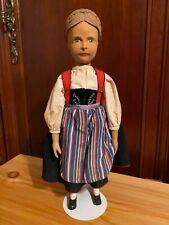 """Beautiful Brienz Swiss Wood Doll 12"""""""