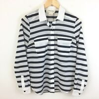 Urban Outfitters Coincidence Chance Black and White Stripe Button Front Shirt S