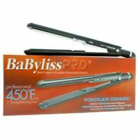 "BAD BOX - BABYLISS PRO 450° PORCELAIN CERAMIC 1 1/2"" FLAT IRON HAIR STRAIGHTENER"