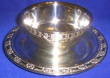 Silverplate Sauce Bowl with Attached Underplate - SHIPPING INCLUDED