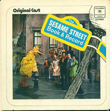 SESAME STREET (1970) Board Book Original Cast 45 RPM Record Jim Henson Frank Oz