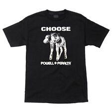 Powell Peralta Choose 2 Headed Cow Skateboard T Shirt Black Xxl