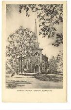 EASTON MD Christ Church John B Moll Illustrated Vtg