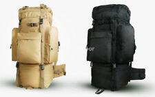 100L Men's Outdoor Oxford Backpack Military Travel Hiking Waterproof  Rucksack