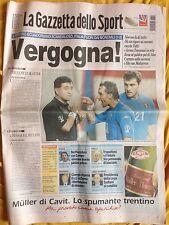 """La Gazzetta dello Sport 19 giugno 2002 Mondiali Corea-Giappone """"Vergogna!"""""""