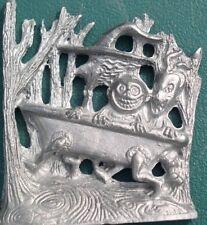 Nightmare Before Christmas Lock, Shock & Barrel pewter plaque