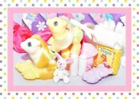 ❤️My Little Pony MLP G1 Vtg Newborn Baby Twins Big Top & Toppy Accessories❤️