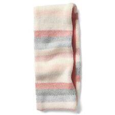 Gap Kids NWT Pink Gray Crazy Stripe Fleece Lined Headband S/M $20
