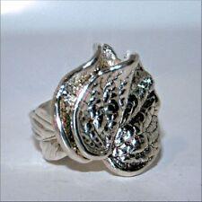 HUGE 825 Silver Leaf Ring Statement Ring Size 11 [12LA]