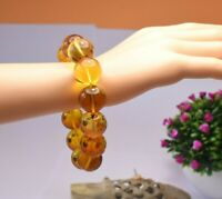 Amber Bracelet Beads Natural Stone Gem Authentic Dominican 18.55 mm (43.3 G)A932