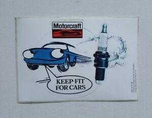 Original 1970's Motorcraft Spark Plug decal sticker unused Mexico RS Cortina