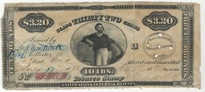 1871 United States $3.20 | 32Cents | Ten Pounds Tobacco Stamp | Pennies2Pounds