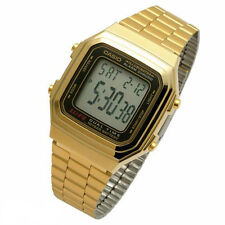 Casio mens watch golden retro digital big numbers A178WGA UK seller