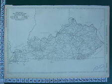 1922 LARGE AMERICA MAP ~ KENTUCKY ~ MILEAGE RAILROADS RAND MCNALLY