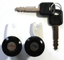 NEW PAIR FORD ECONOLINE DOOR LOCK KEYED CYLINDER W/2 OEM FORD LOGO KEYS TO MATCH