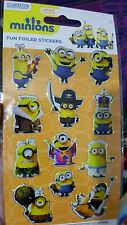 NEW MINIONS FUN FOILED STICKERS FROM MINION FILM REUSABLE