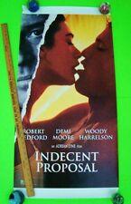 "Origl 1993 INDECENT PROPOSAL MOVIE POSTER 20"" X 40"" Redford DEMI MOORE Harrelson"