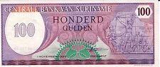 1985--SURINAME--100 GULDEN-P#128--BETTER GRADE^