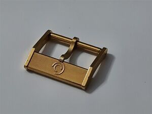 AUTHENTIC NOS 1960-70'S CERTINA 16MM YELLOW GOLD PLATED WATCH BUCKLE