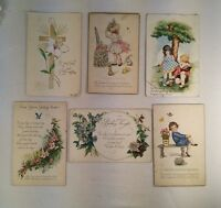 Vtg Lot of 6 1920-30's Birthday Wishes Get Well Easter Greetings Postcards