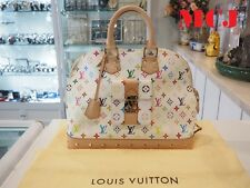 'New' LOUIS VUITTON Monogram Multicolore Alma GM Hand Bag Noir