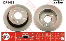 TRW Juego de 2 discos freno Trasero 258mm MERCEDES-BENZ CLASE A B DF4453