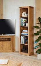 Baumhaus Mobel Oak Tall Narrow Bookcase - Mobel Oak Collection - Solid Oak
