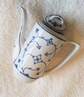 Vintage East German Porcelain Coffee Pot Mid Century Scandinavian Design