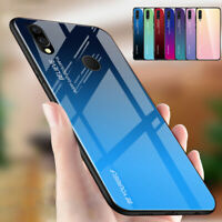 Gradient Tempered Glass Hard Silm Case Cover For Samsung Galaxy A40 A50 A70 A20e
