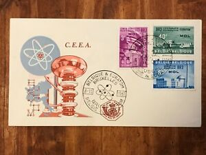 1961 Belgium Bruxelles Brussel EURATOM ATOM NUCLEAR First Day Cover FDC