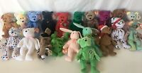 TY BEANIE BABIES LOT OF 20 + 9 RARE COLLECTORS ITEMS ALL WITH ERRORS